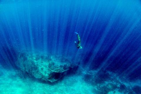 Freediving around Gili islands, Indonesia