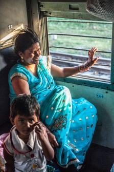 On the train in India, 2014