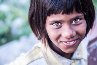 Local girl in Rishikesh, India, 2014