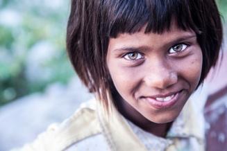 Local girl in Rishikesh, India, 2014