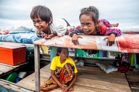 Sea gypsies in Semporna area, Malaysia.